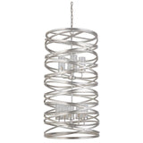 Mariana Home - Finley 9 Light Chandelier - Silver Leaf Finish