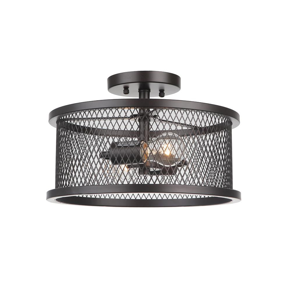 bulb bronze contemporary black modern ceiling semi collections flush lights square edison thames home two mount caged mariana products light industrial on