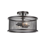 Mariana Home - Thames 2 Light Semi Flush Mount - Bronze Finish