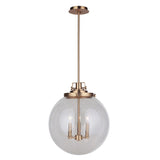Mariana Home - Globe 3 Light Pendant - Brass Finish