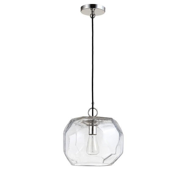 Saria One Light Mini Pendant - Polished Nickel Finish