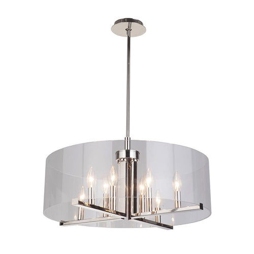 Mariana Home - Regal 8 Light Pendant - Polished Nickel Finish