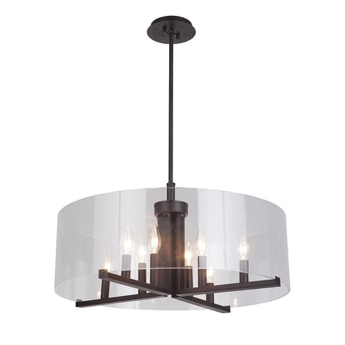 Mariana Home - Regal 8 Light Pendant - Bronze Finish