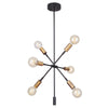 Mariana Home - Ellis 6 Light Chandelier - Bronze + Brass Finish