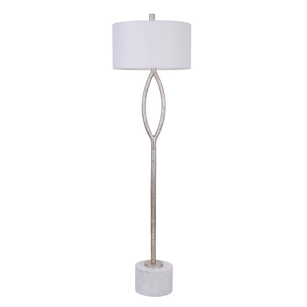 Mariana Home - Axel 1 Lt Floor Lamp - Silver