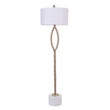Mariana Home - Axel 1 Lt Floor Lamp - Antique Brass