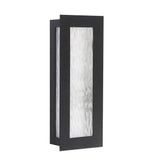 Seneca One Light Small Outdoor Wall Lantern - Black Finish