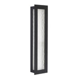 Seneca One Light Large Outdoor Wall Lantern - Black Finish