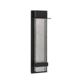 Alpine Large LED Outdoor Wall Lamp - Black Finish