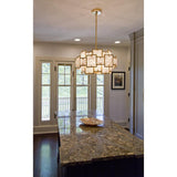 Skyler 6 Light Pendant - Gold Leaf