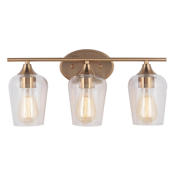 Mariana Home - Elba 3 Light Vanity - Brass Finish
