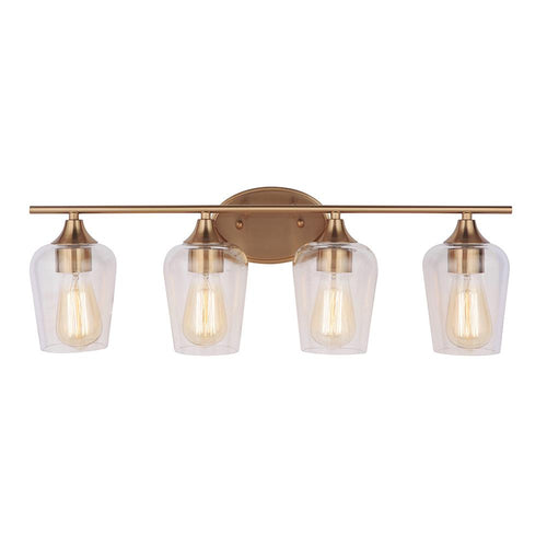 Mariana Home - Elba 4 Light Vanity - Brass Finish