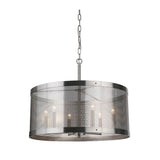 Mariana Home - Chicago 6 Light Pendant - Satin Nickel Finish
