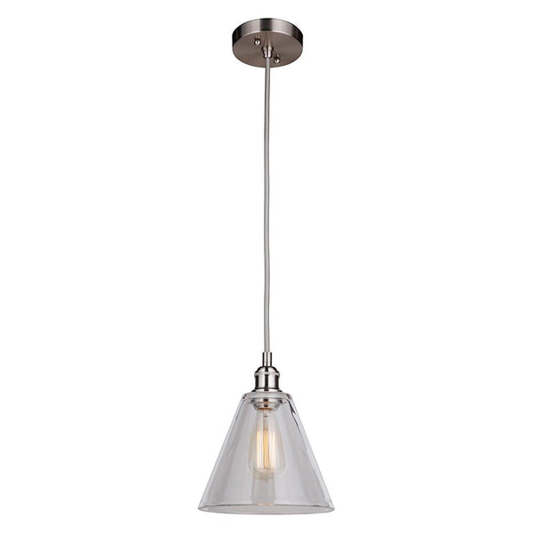 Mariana Home - Mylin 1 Light Pendant - Brushed Nickel Finish