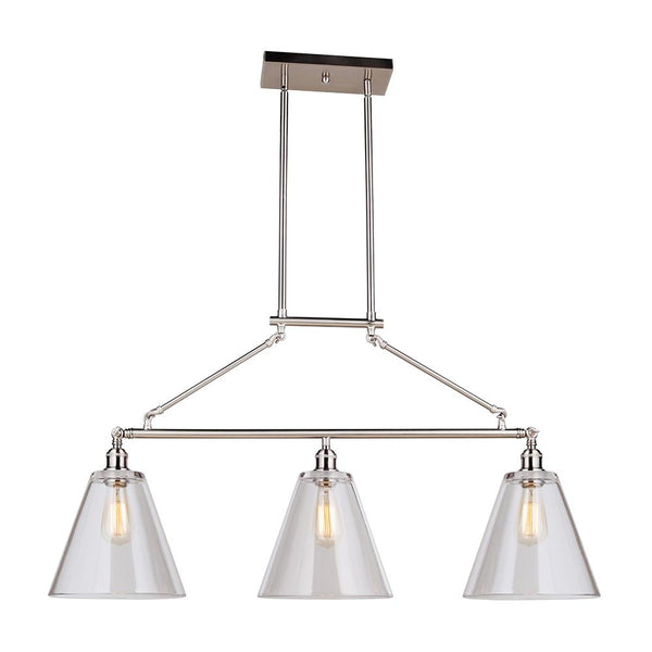 44428e0b028 Mariana Home - Mylin 3 Light Island Pendant - Brushed Nickel Finish