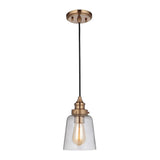 Mariana Home - Tobias 1 Light Pendant - Aged Gold Finish - 290124