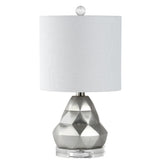 Mariana Home - Cambria Table Lamp - Cement and Crystal Base with Silver Leaf Finish