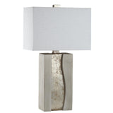 Mariana Home - Serenity Table Lamp - Cement and Silver Leaf