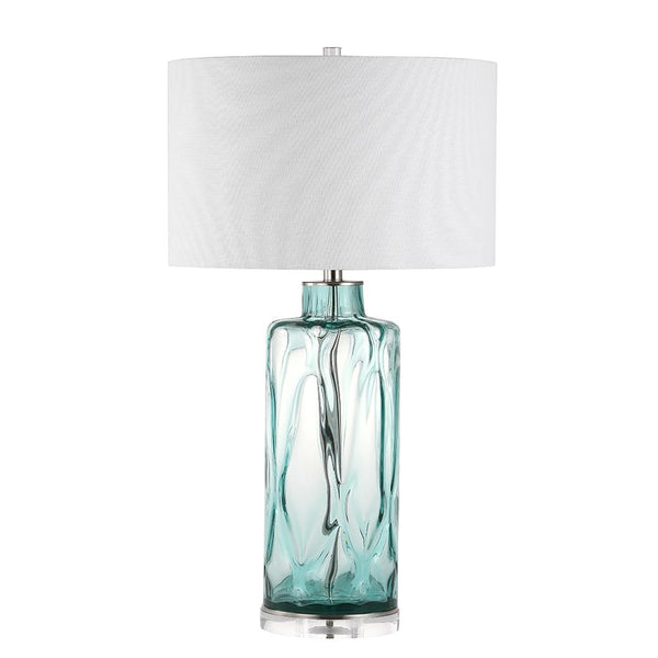 Mariana Home - Greta Table Lamp - Blue Hand Blown Glass