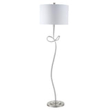Mariana Home - Twisted Floor Lamp - Silver Leaf Finish