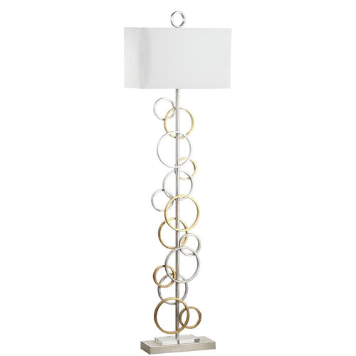 Mariana Home - Effervescent Floor Lamp - Gold Leaf and Silver Leaf Finishes