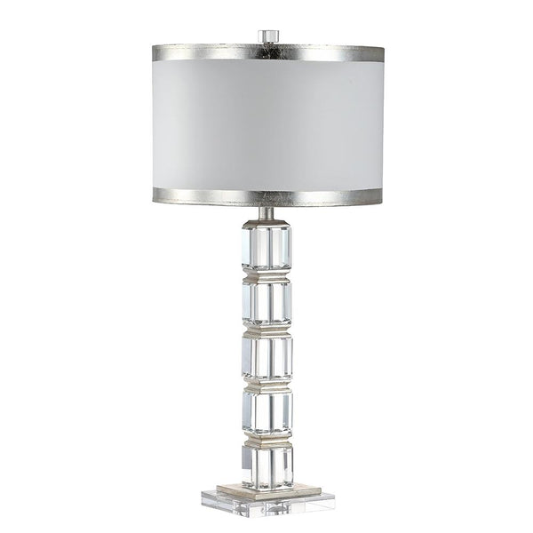 Mariana Home - Isabella Table Lamp - Crystal and Silver Leaf Finish