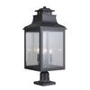 Mariana Home - Drake 4 Light Outdoor Post Mount Lantern - Black Finish