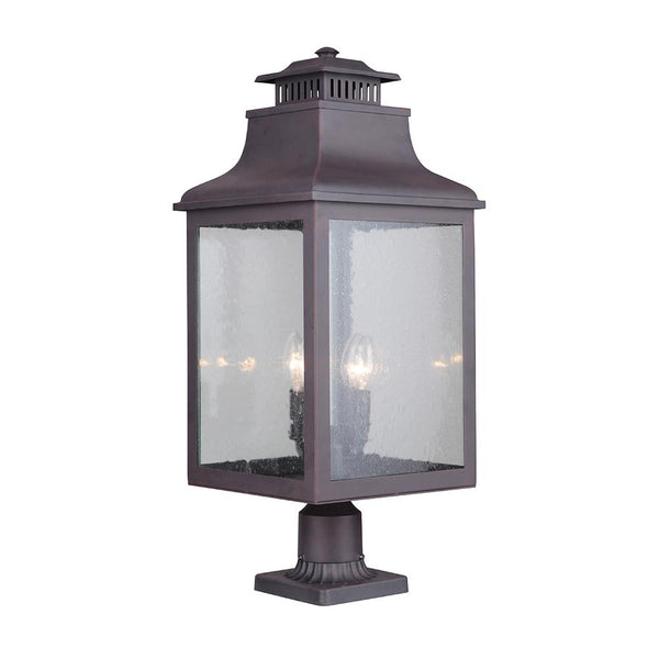 Mariana Home - Drake 4 Light Outdoor Post Mount Lantern - Medium Bronze Finish