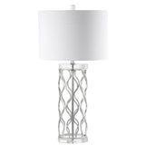 Mariana Home - Willow Table Lamp - Crystal and Silver Leaf Finish