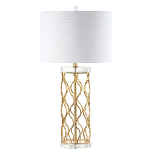 Mariana Home - Willow Table Lamp - Crystal and Gold Leaf Finish
