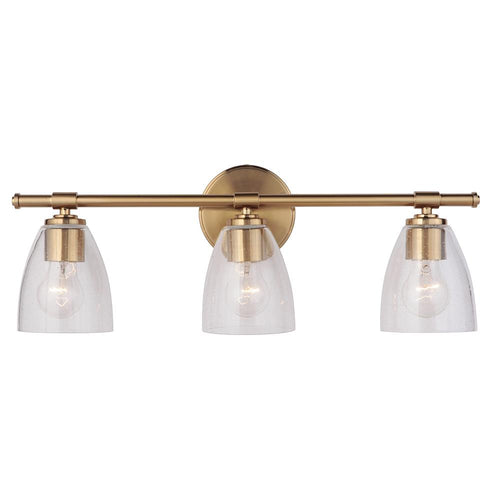 Solebay 3 Light Vanity - Brass Finish