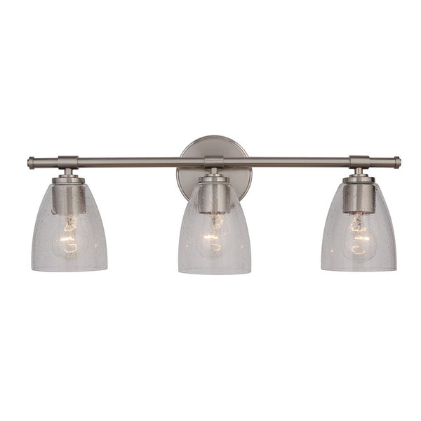 Solebay 3 Light Vanity - Satin Nickel Finish