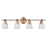 Solebay 4 Light Vanity - Brass Finish