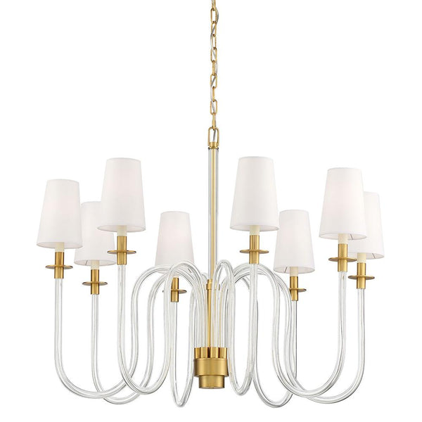 Chancellor 8LT Chandelier - Aged Brass