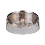 Mariana Home - Eldon 3 Light Flush Mount - Brushed Nickel Finish