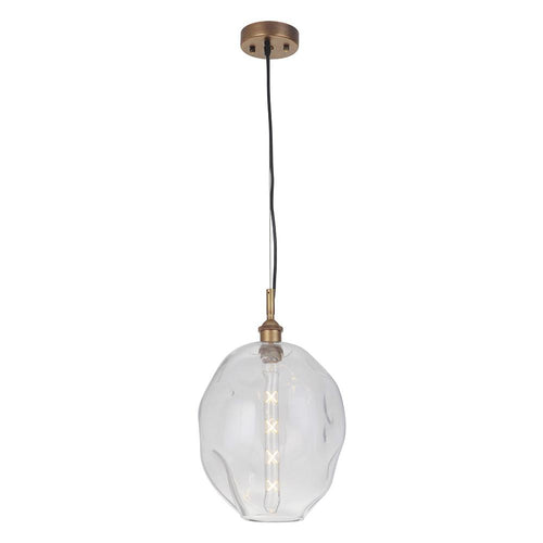 Ellarie 1 Light Pendant - Antique Brass Finish