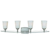 Mariana Home - Salerno 4 Light Vanity Strip - Satin Nickel Finish - 370445