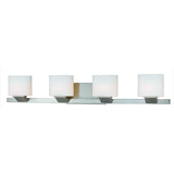 Mariana Home - Endive 4 Light Wall Sconce - Bath Vanity- Satin Nickel Finish - 380445