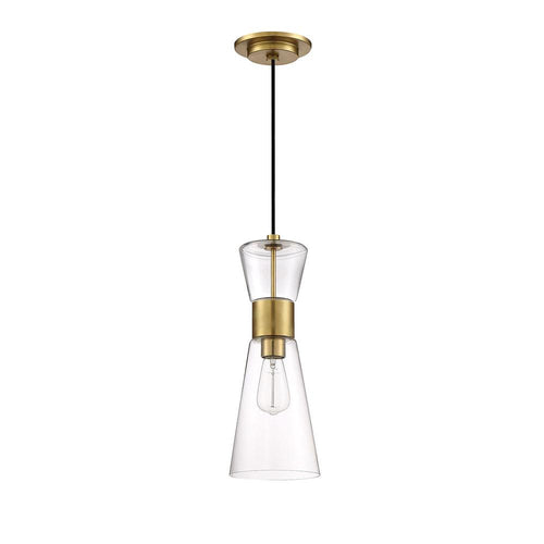 Mariana Home - Vaughn 1 Light Mini Pendant - Brass Finish