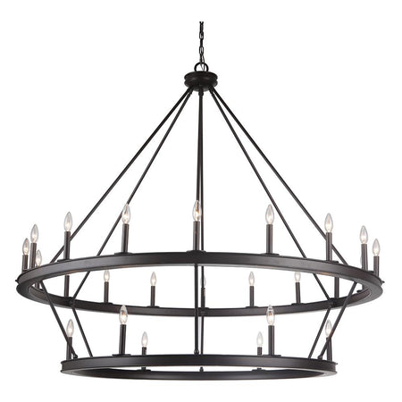 Nicola 9 Light Chandelier - Urban Bronze