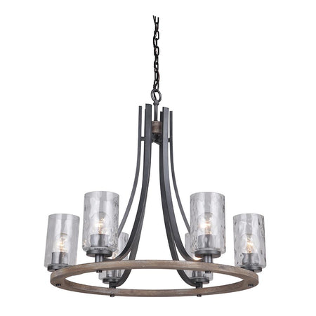 Chryssa 9 Light Chandelier - Bronze
