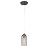 Portland 1 Light Pendant -  Wood and Aged Iron Finish