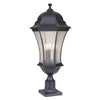 Mariana Home - Crandall Three Light Outdoor Post Mount Lantern - Black Finish - 513312