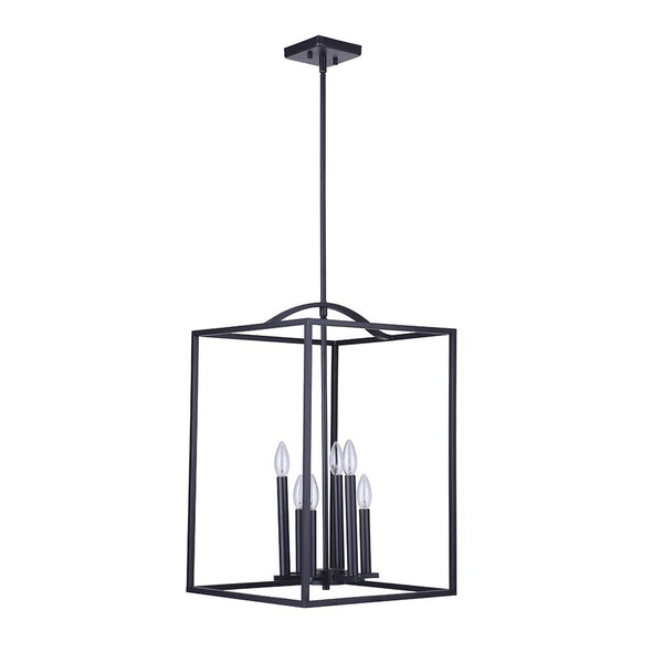 Mariana Home - Tiffany 6 Lt Pendant - Black