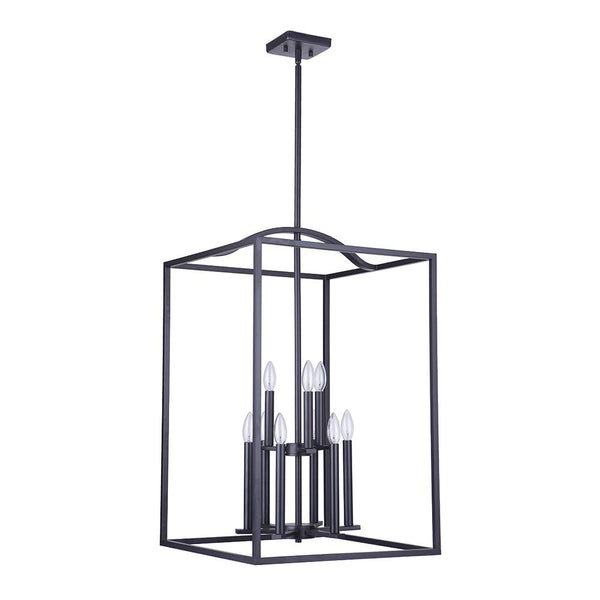 Mariana Home - Tiffany 9 Lt Pendant - Black