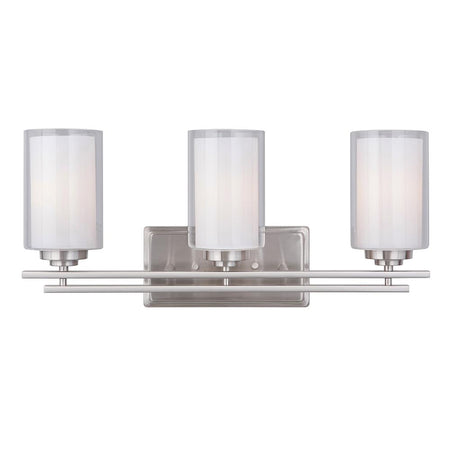 Salerno 4 Light Vanity Strip - Satin Nickel