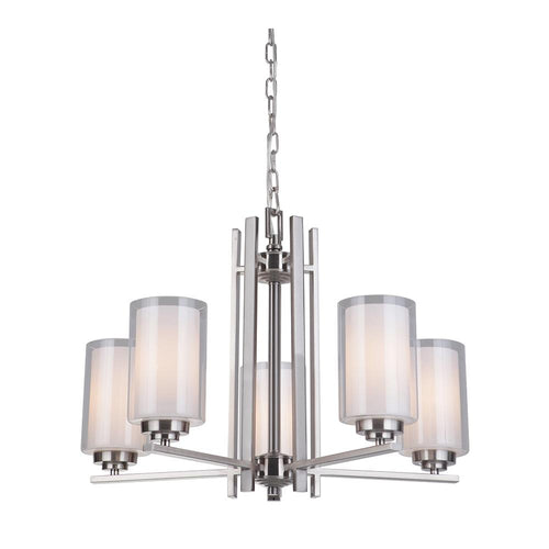 Mariana Home - Chryssa 5 Light Chandelier - Brushed Nickel Finish
