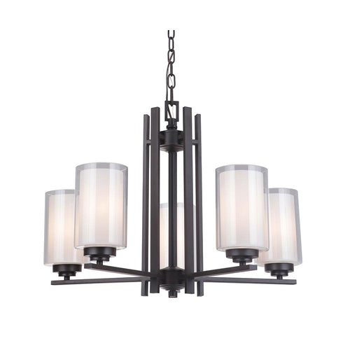 Mariana Home - Chryssa 5 Light Chandelier - Bronze Finish