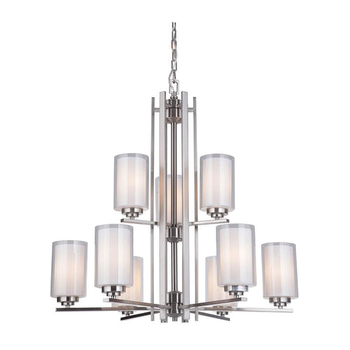 Mariana Home - Chryssa 9 Light Chandelier - Brushed Nickel Finish  sc 1 st  Mariana Home : mariana lighting - www.canuckmediamonitor.org