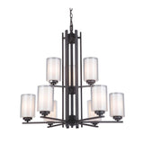 Mariana Home - Chryssa 9 Light Chandelier - Bronze Finish